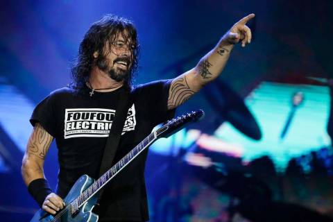 In this Sept. 29, 2019, file photo, Dave Grohl of the band Foo Fighters performs at the Rock in ...