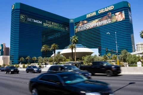 The MGM Grand photographed on Tuesday, April 27, 2021, in Las Vegas. (Bizuayehu Tesfaye/Las Veg ...