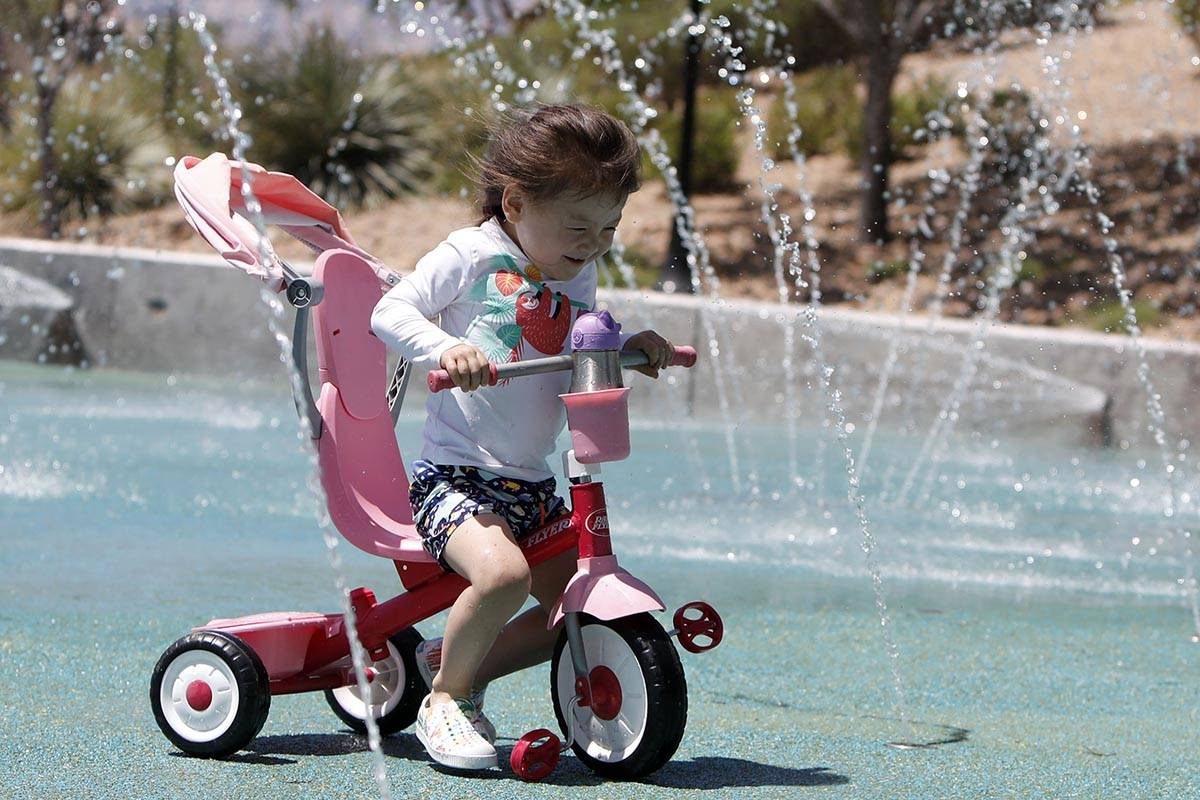 Cooling off will be in order with the high expected to reach 98 in Las Vegas on Friday, May 14, ...