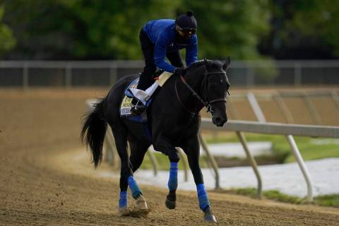 Exercise rider Humberto Gomez takes Kentucky Derby winner and Preakness entrant Medina Spirit o ...