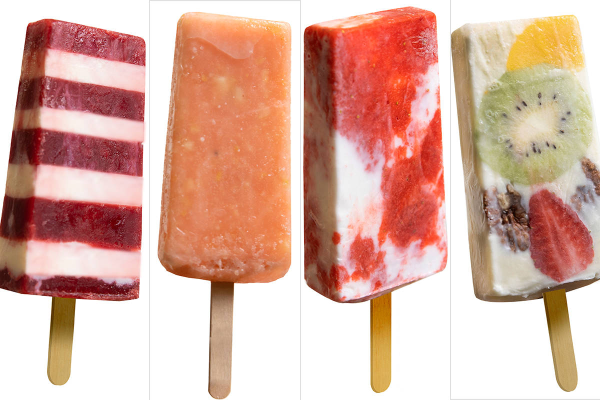 From left: Rasperry and cream cheese, guava, strawberry and cream, fruit and cream cheese. (Ben ...