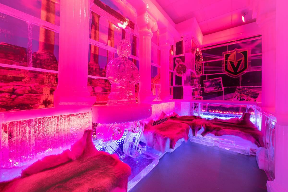 The interior of Icebar at The Linq Promenade. (Icebar)