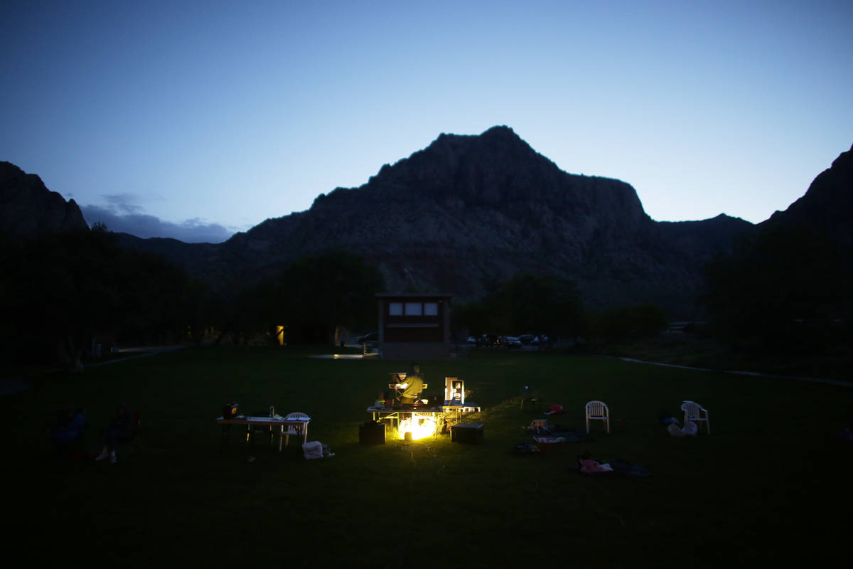 The audience area of the Super Summer Theatre at Spring Mountain Ranch State Park on Monday, Ma ...