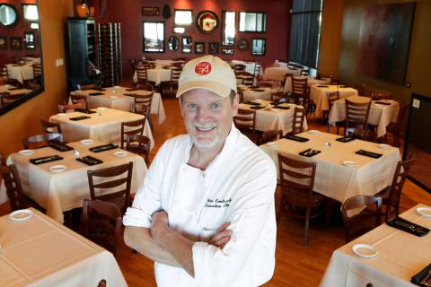 Chef Wes Kendrick of Table 34 poses for a photo inside his restaurant Thursday, Nov. 17, 2016. ...