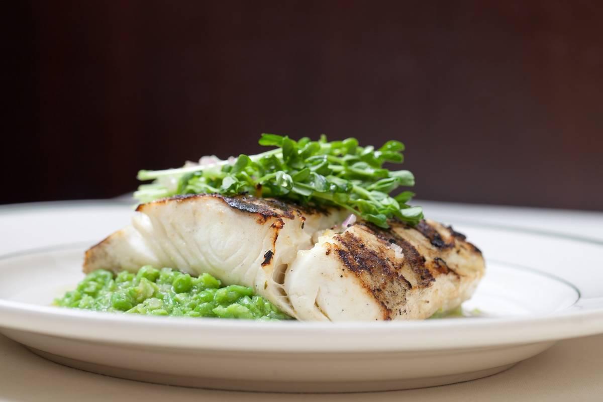 Grilled Alaskan halibut, part of the special menu at Joe's Seafood, Prime Steak & Stone Crab. ( ...