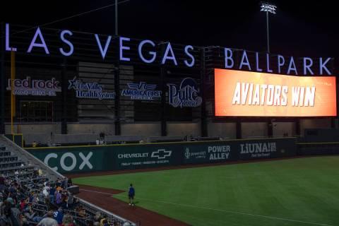 The Las Vegas Aviators won against the Sacramento River Cats at Las Vegas Ballpark on Tuesday, ...