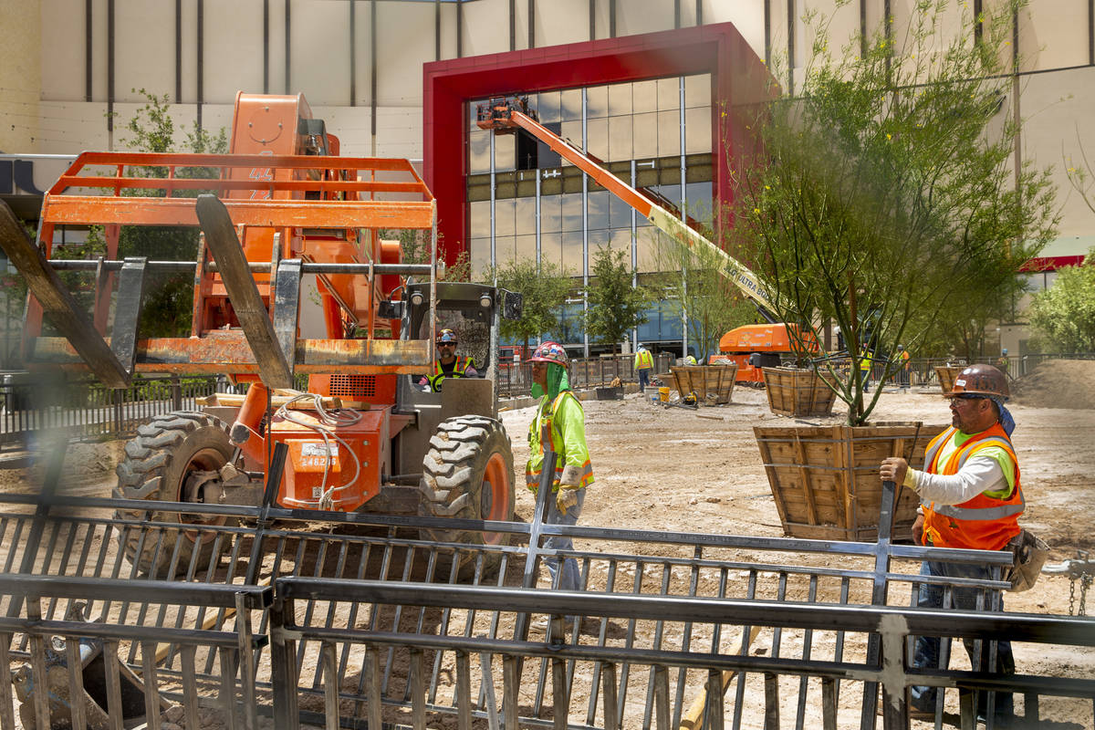Resorts World Las Vegas construction continues on Wednesday, June 9, 2021, in Las Vegas. (L.E. ...