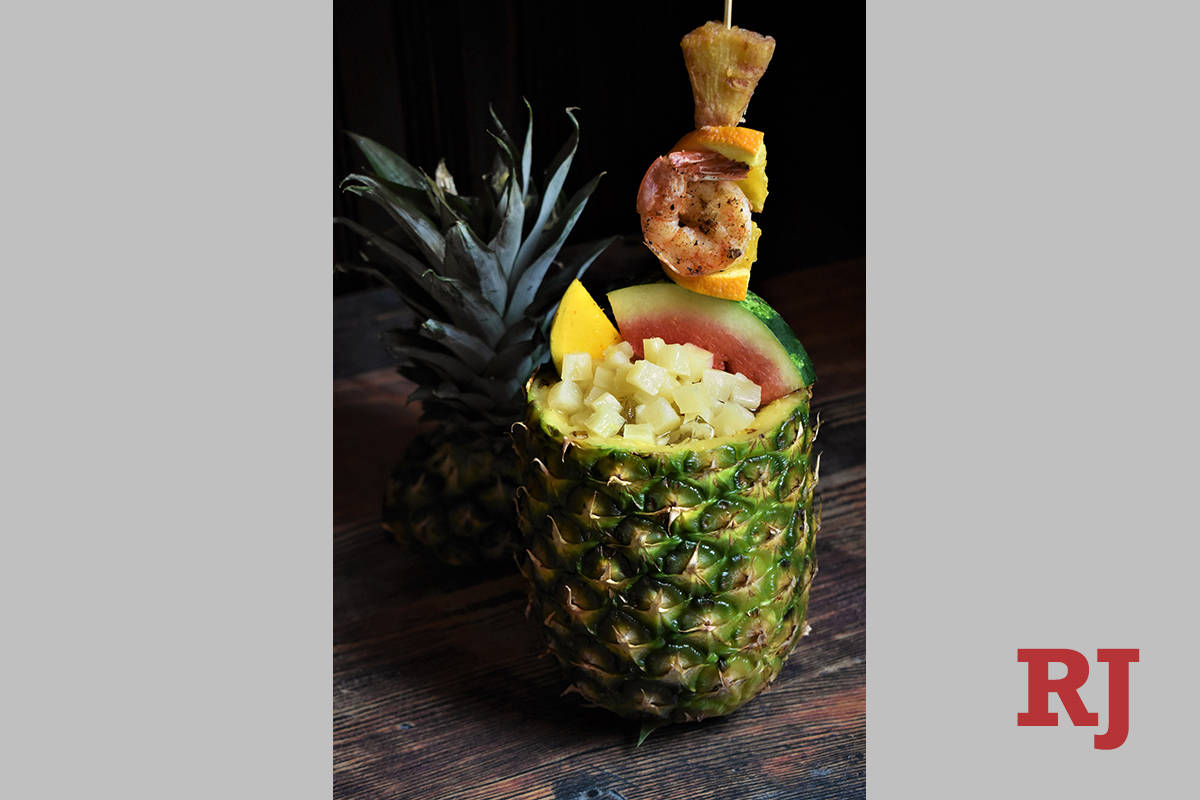 The Big Pineapple Island at Virgil's Real Barbecue. (Virgil's)