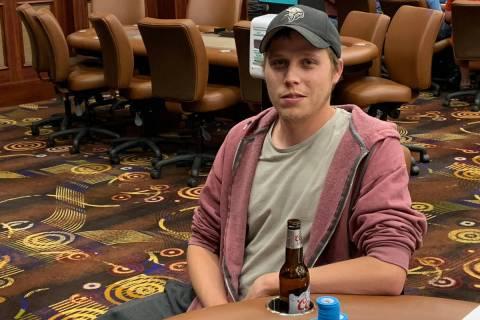 Ian Steinman after winning the Benny Binion Summer Shootout poker tournament on Saturday, June ...
