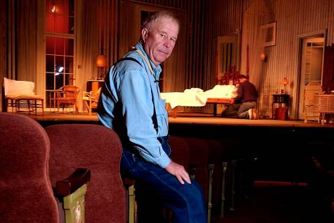In this Oct. 17, 2003, file photo, actor Ned Beatty poses at New York's Music Box Theatre where ...