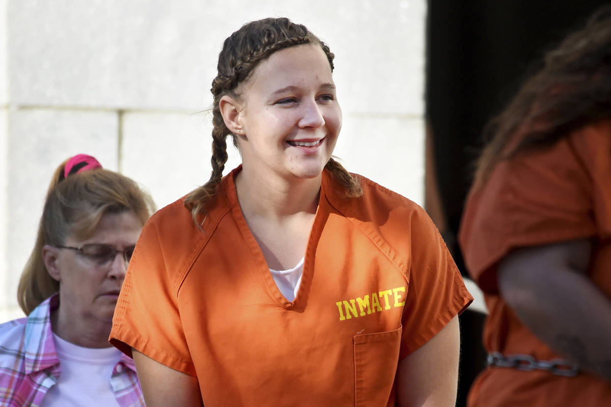 FILE- In this June 26, 2018 file photo, Reality Winner walks into the Federal Courthouse in Aug ...