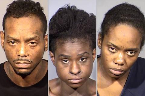 From left, Prince Bracy, Asha Harrison-Graddy and Eudeasha Thomasgray (Las Vegas Metropolitan P ...