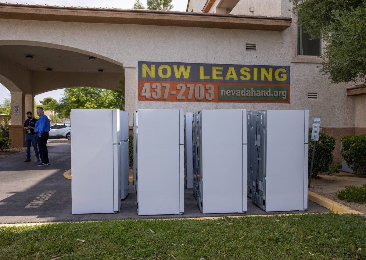 Some of the 98 fridges at Bonanza Pines Senior Living being replaced from Powershift by NV Ener ...