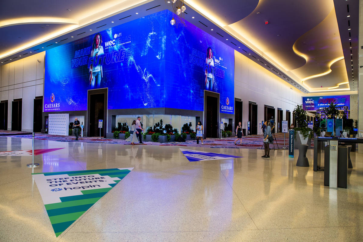 Lobby of the Caesars Forum where the Meeting Professionals International World Education Congre ...