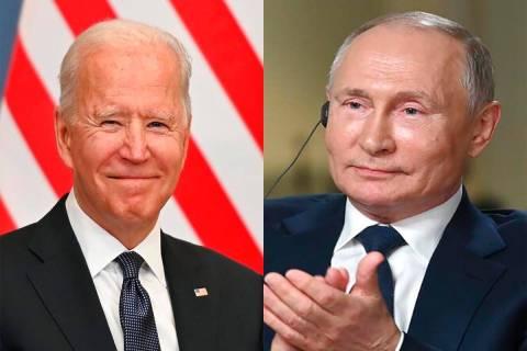 U.S. President Joe Biden and Russian President Vladimir Putin are scheduled to meet for five ho ...