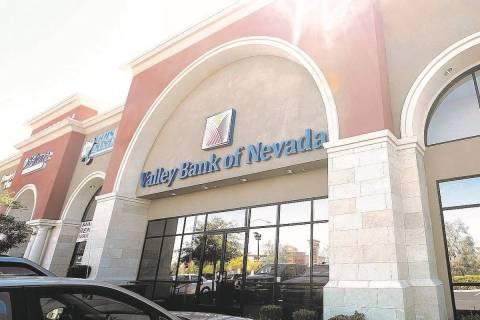Valley Bank of Nevada at N. 6385 Simmons St. is shown in North Las Vegas. (Las Vegas Review-Jou ...