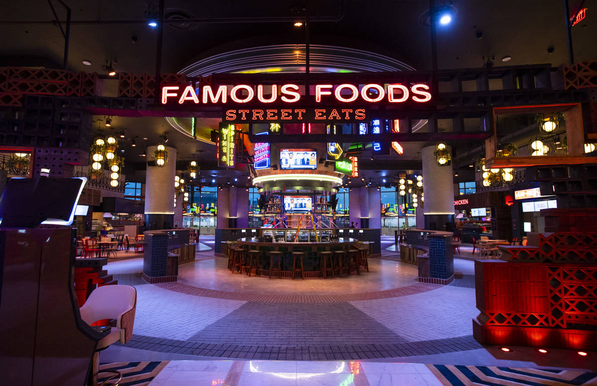 A view of one of the entrances to the Famous Foods Street Eats area during a tour of Resorts Wo ...
