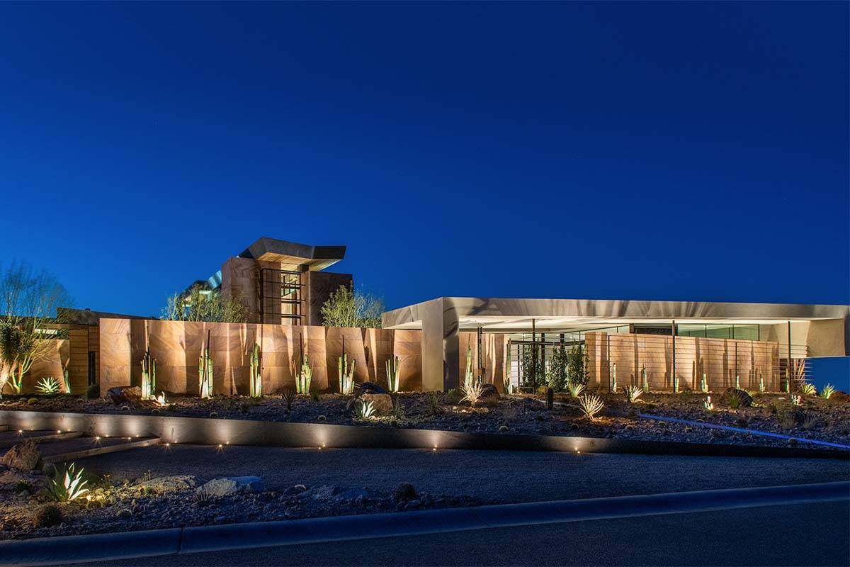 A luxury home built on spec in MacDonald Highlands in Henderson has sold for $25 million.(Blu ...