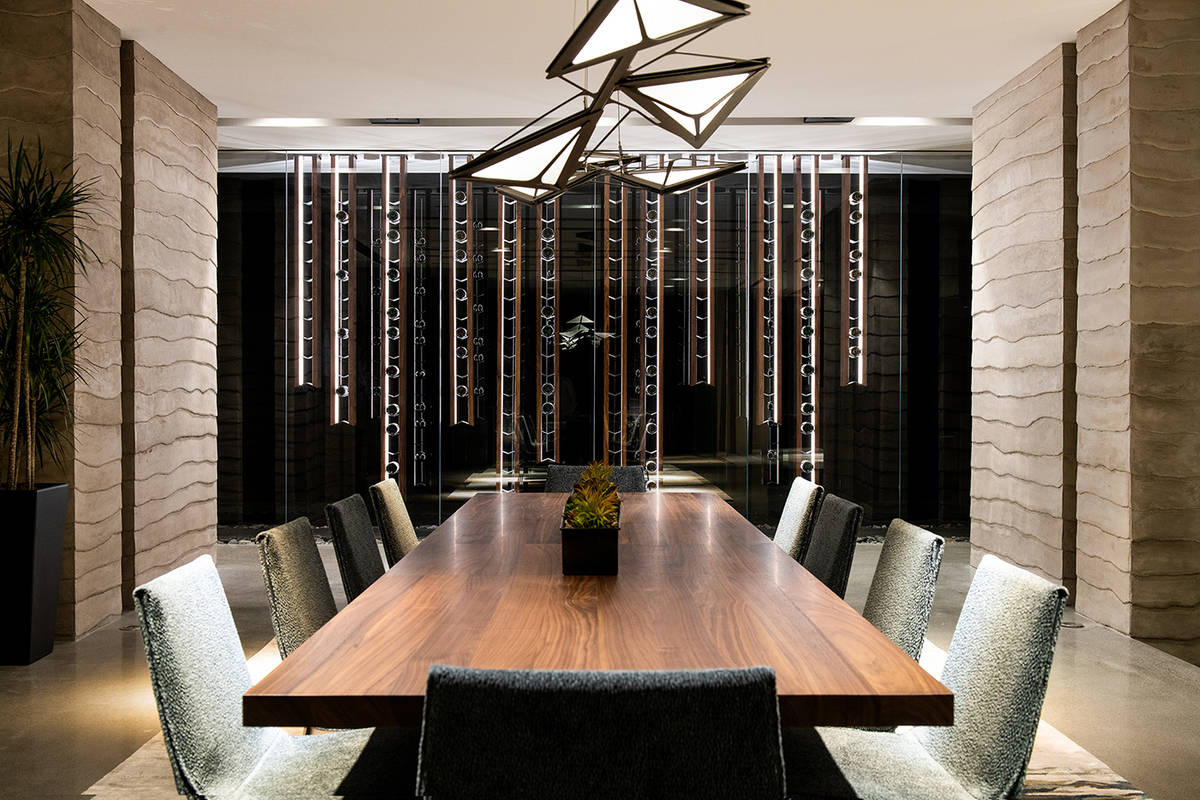 Dining area of luxury home in MacDonalds Highlands in Henderson (Blue Heron)