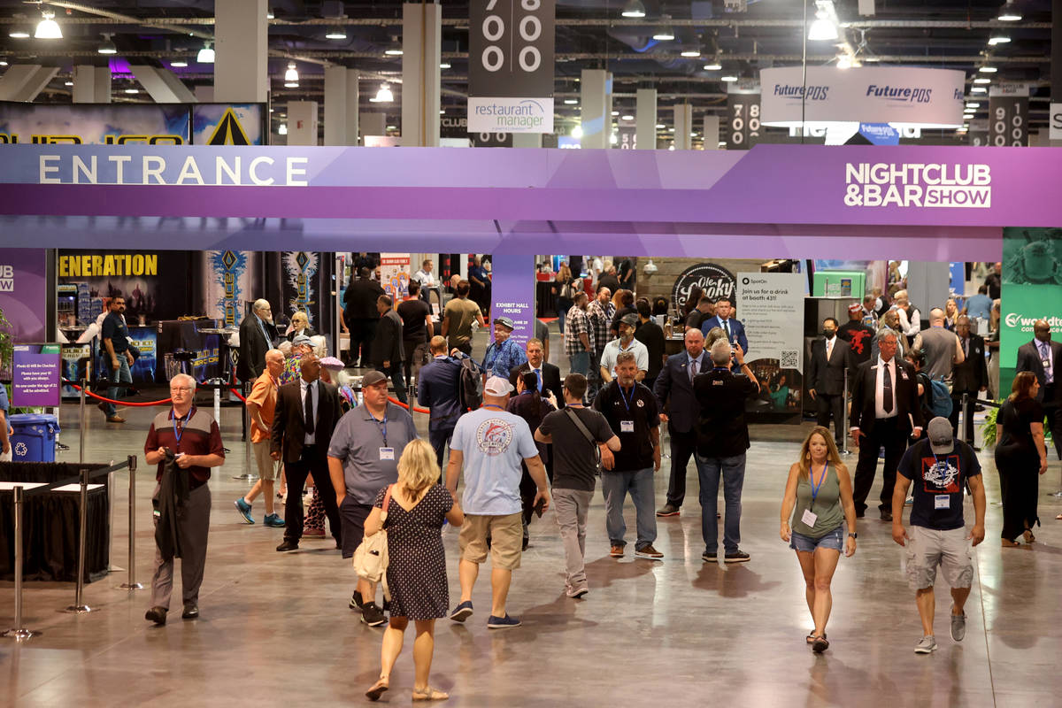 Conventioneers at the Nightclub & Bar Show at the Las Vegas Convention Center Tuesday, June ...