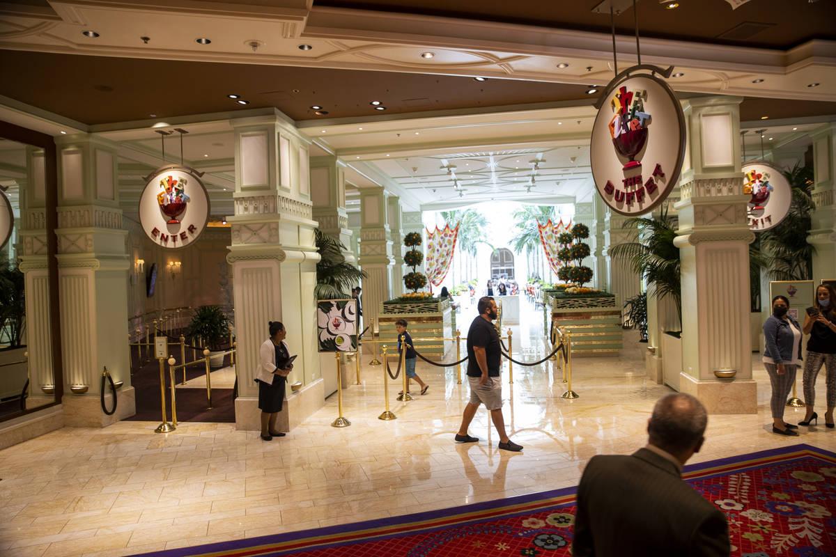 The Buffet at Wynn Las Vegas, Wednesday, June 30, 2021 in Las Vegas. (Erik Verduzco / Las Vegas ...