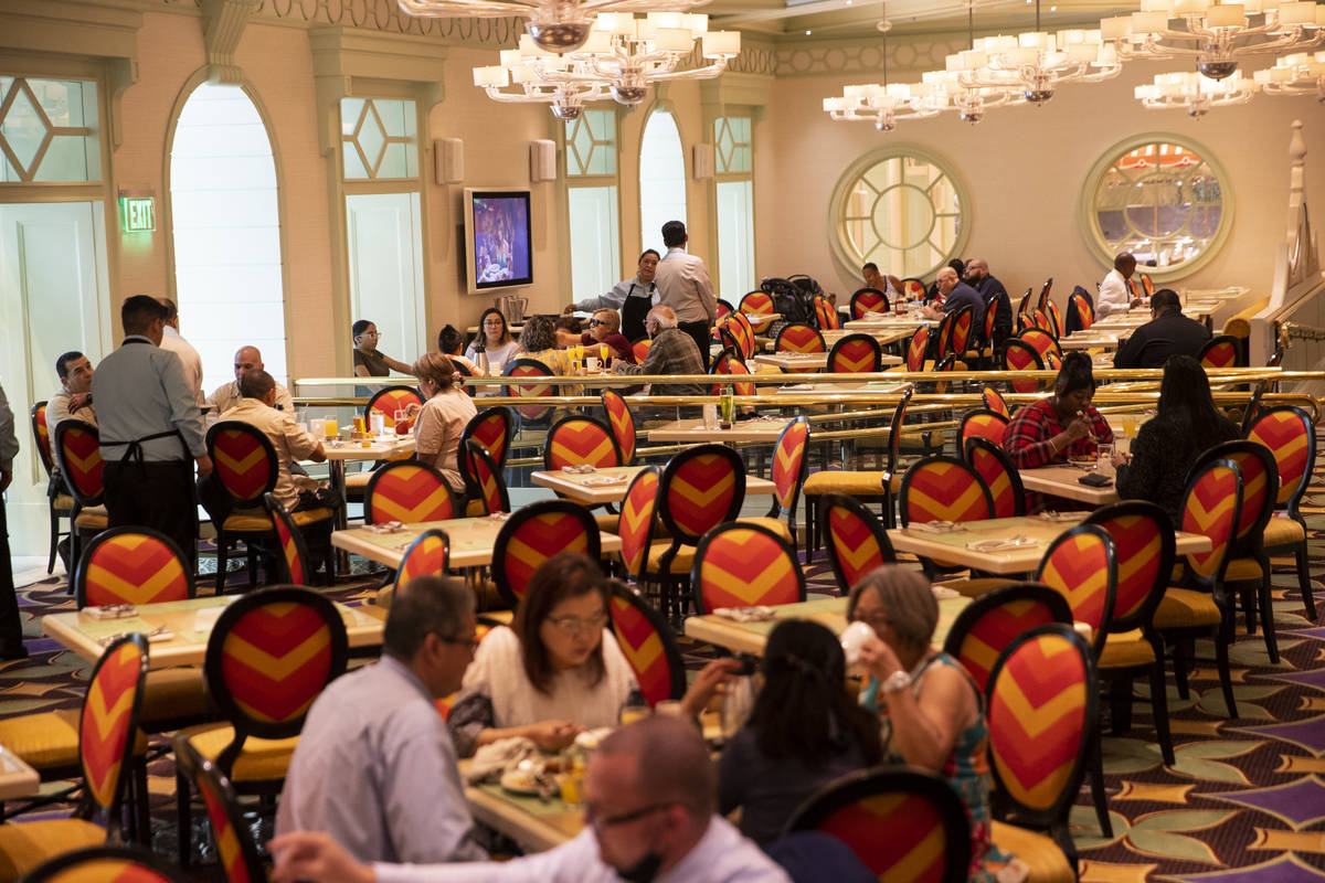 The dining area at The Buffet at Wynn Las Vegas, Wednesday, June 30, 2021 in Las Vegas. (Erik V ...