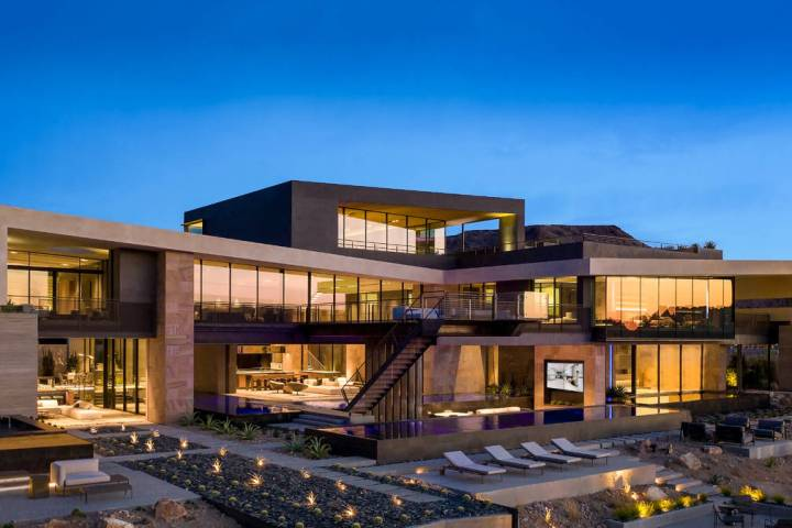 This home smashed the all-time Las Vegas record sale for a single-family home, fetching a $25 m ...