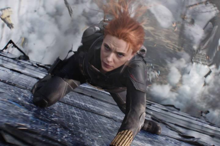 Black Widow/Natasha Romanoff (Scarlett Johansson) in Marvel Studios' BLACK WIDOW, in theaters a ...