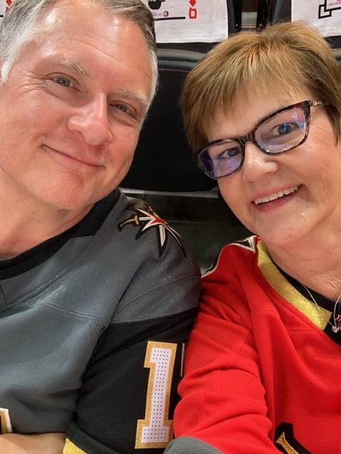 Peter and Marianne Gerali attend a Vegas Golden Knights hockey game this June. Peter believes h ...