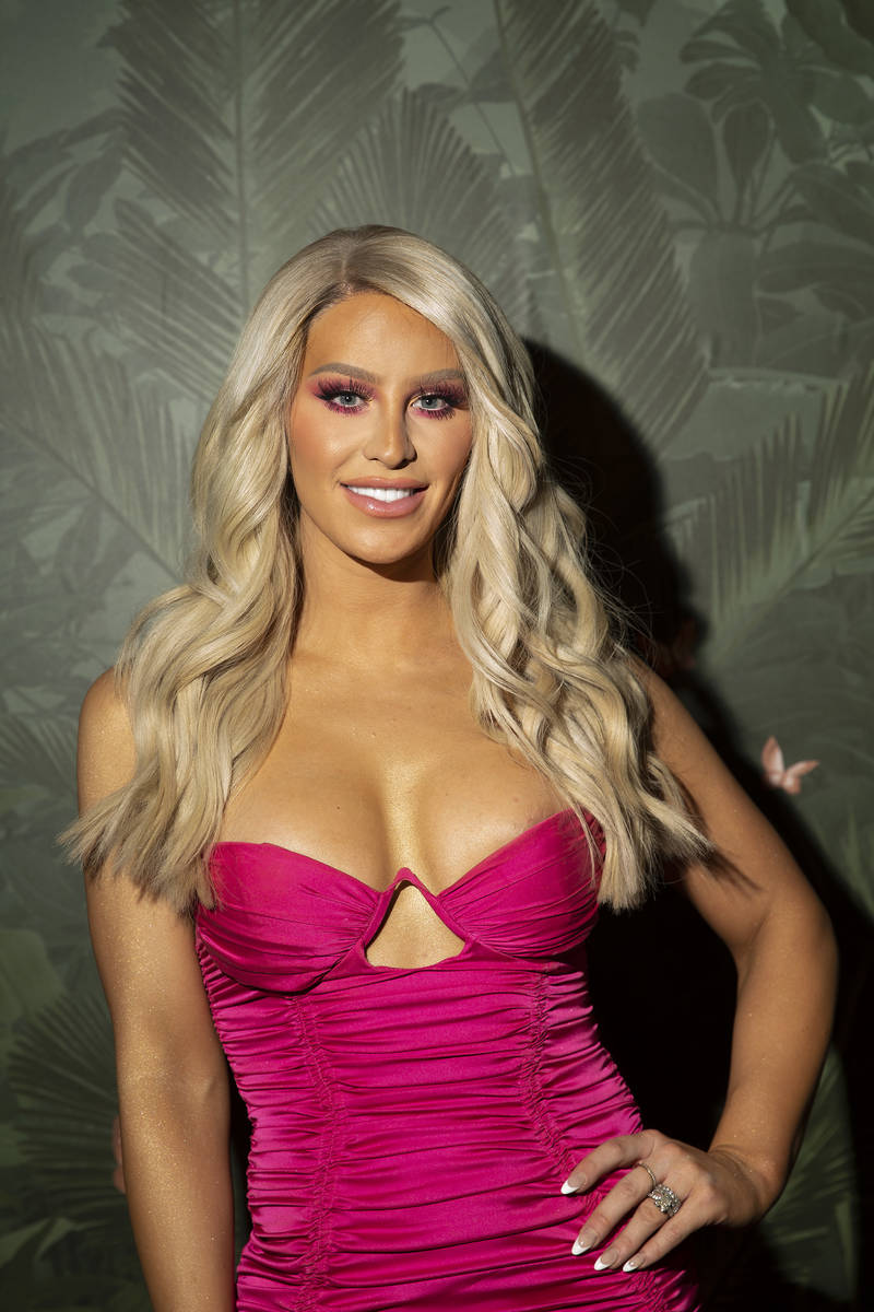 Gigi Gorgeous, Canadian YouTuber, poses for photographers upon arrival at the grand opening par ...