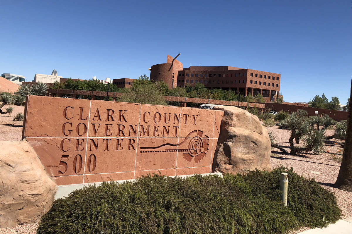 The Clark County Government Center (Las Vegas Review-Journal/File)