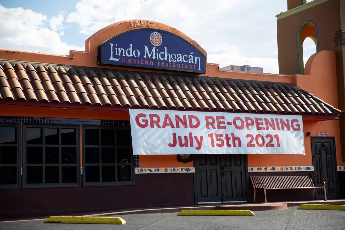 Lindo Michoacan, 2655 E Desert Inn Road, in Las Vegas, Wednesday, July 7, 2021. (Erik Verduzco ...