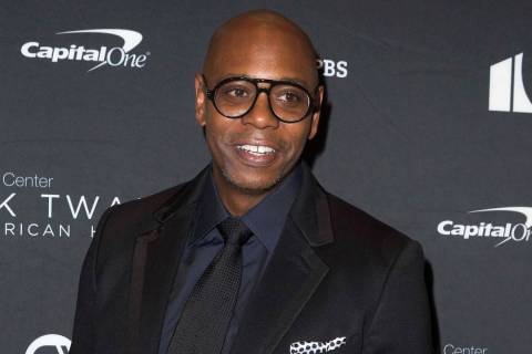In this Oct. 27, 2019, file photo, Dave Chappelle arrives at Kennedy Center for the Performing ...