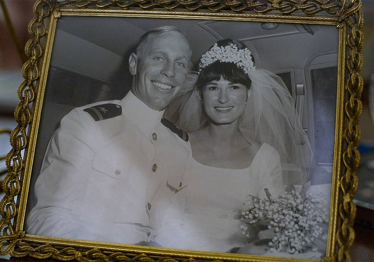 Judy and Gary Robinson on their wedding day in 1966. Judy was diagnosed with early-stage Alzhei ...