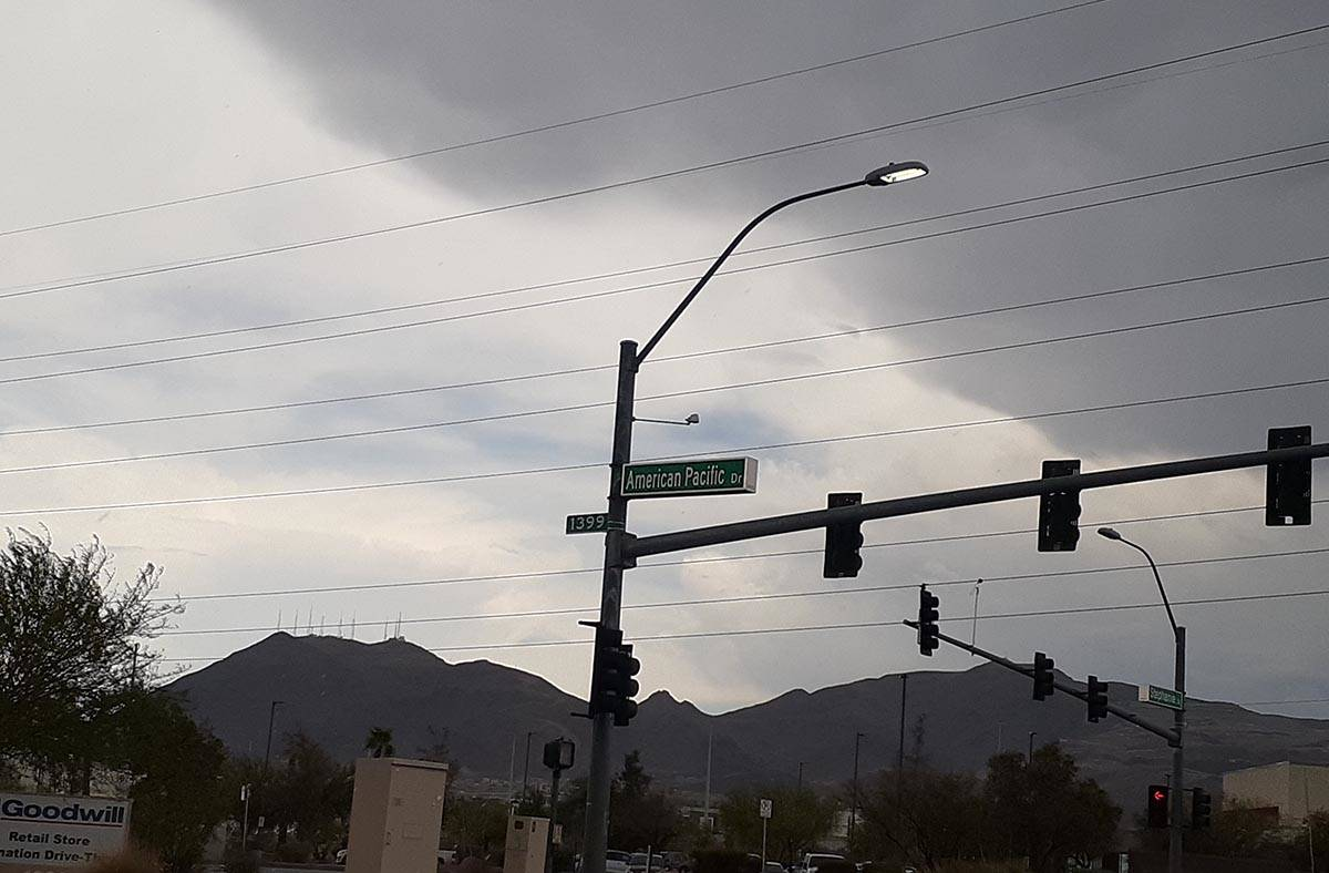 Dark clouds were forming over Black Mountain in Henderson about 2 p.m. Wednesday, July 21, 2021 ...