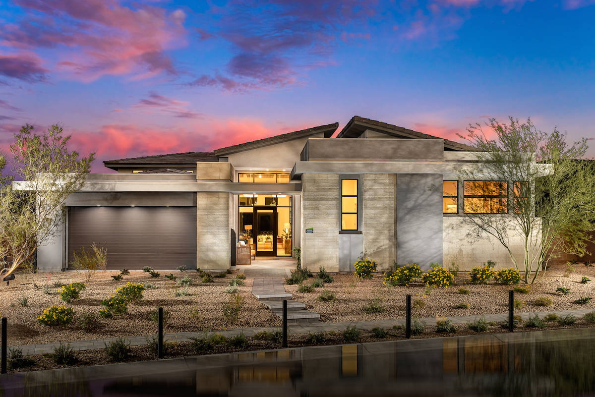 Mesa Ridge offers modern one- and two-story luxury homes ranging from 3,236 square feet to 5,00 ...