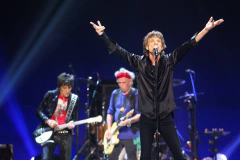 The Rolling Stones will return to Las Vegas for the time since 2016 in November. (Chase Stevens ...