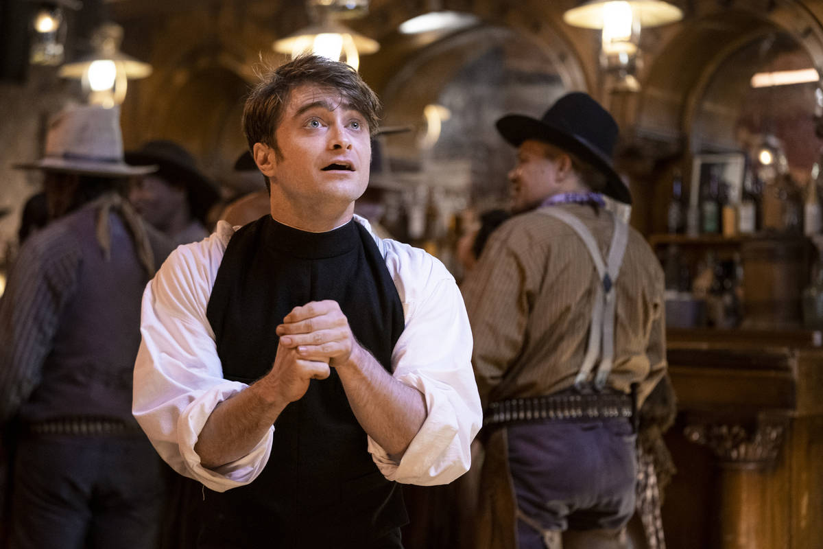 """Daniel Radcliffe stars in """"Miracle Workers: Oregon Trail."""" (Tyler Golden/TBS)"""