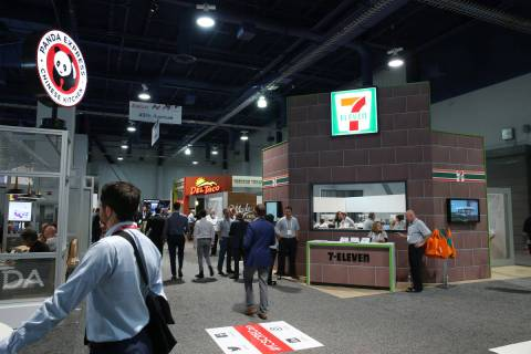 People attend RECon expo at the Las Vegas Convention Center in Las Vegas, Tuesday, May 22, 2018 ...