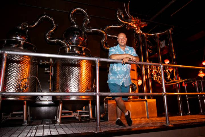 Bryan Davis, founder of Lost Spirits, builds all the stills used at his distilleries and tops t ...