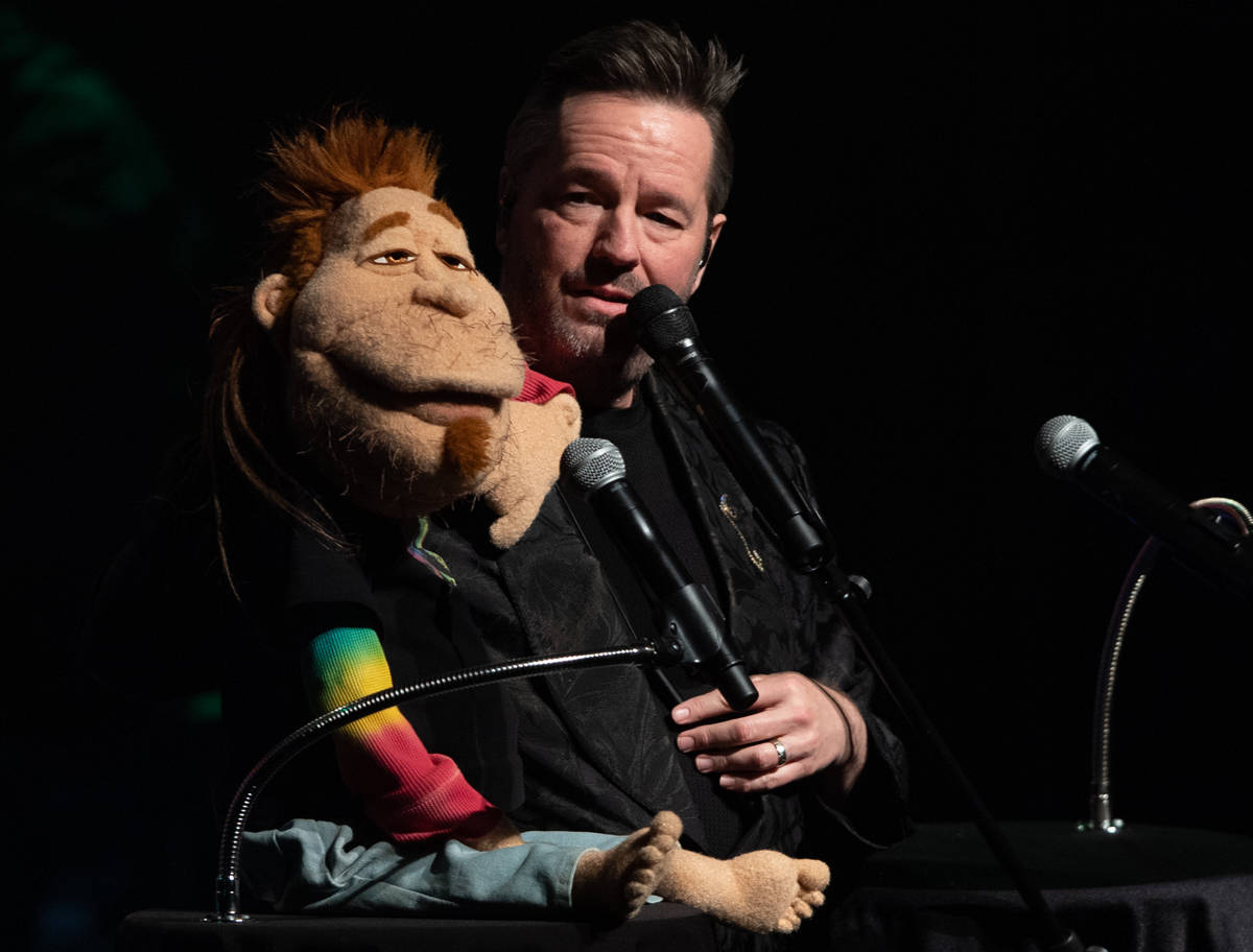 Terry Fator, shown with Duggie Scott Walker, has returned to residency at New York-New York. (T ...
