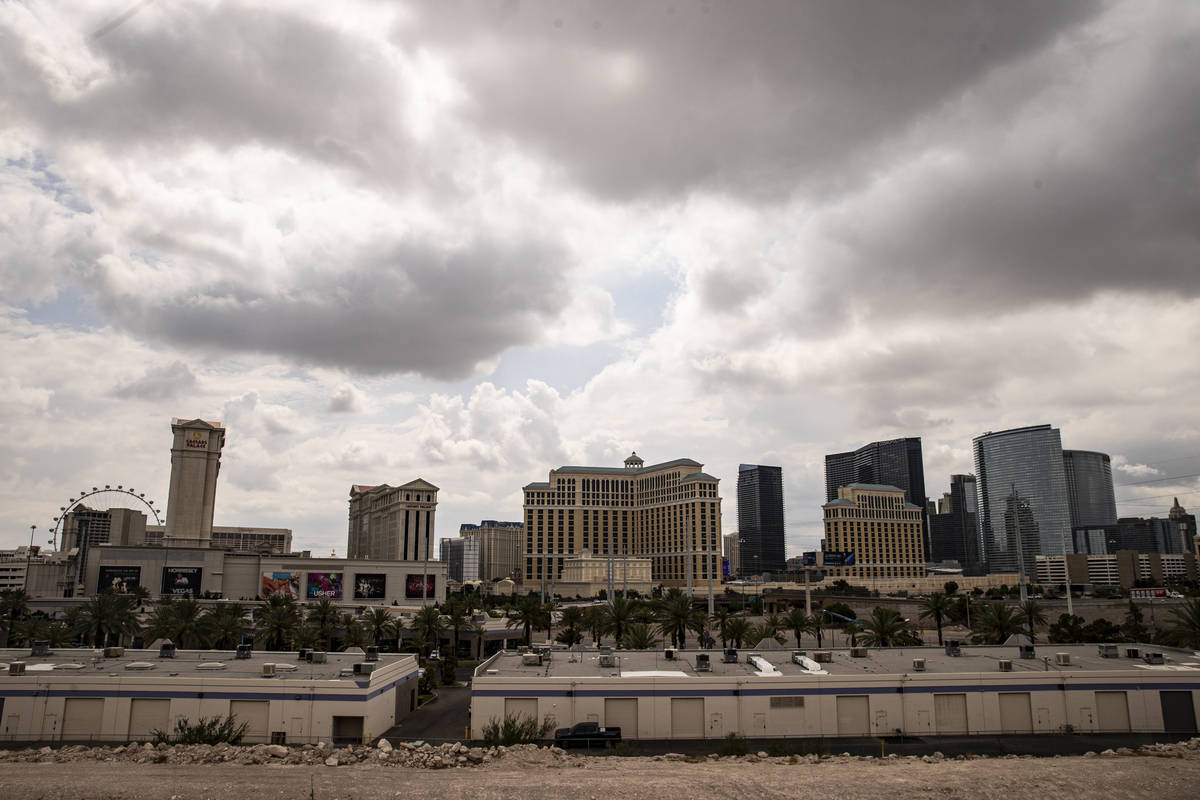 Clouds cover the Las Vegas Valley on Monday, July 26, 2021. (Chase Stevens/Las Vegas Review-Jou ...