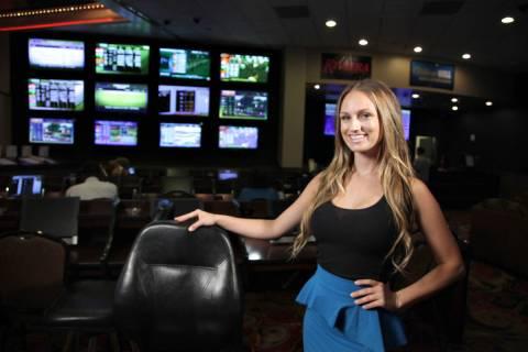 Handicapper Kelly Stewart is shown Thursday, Sept. 27, 2012, in Las Vegas. (Las Vegas Review-Jo ...