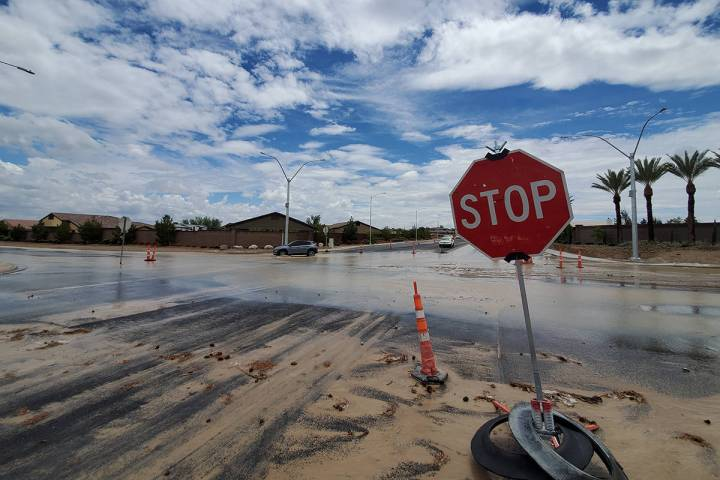 Pahrump is still reeling from the last two days of storms as crews work to assess damage. (Chas ...