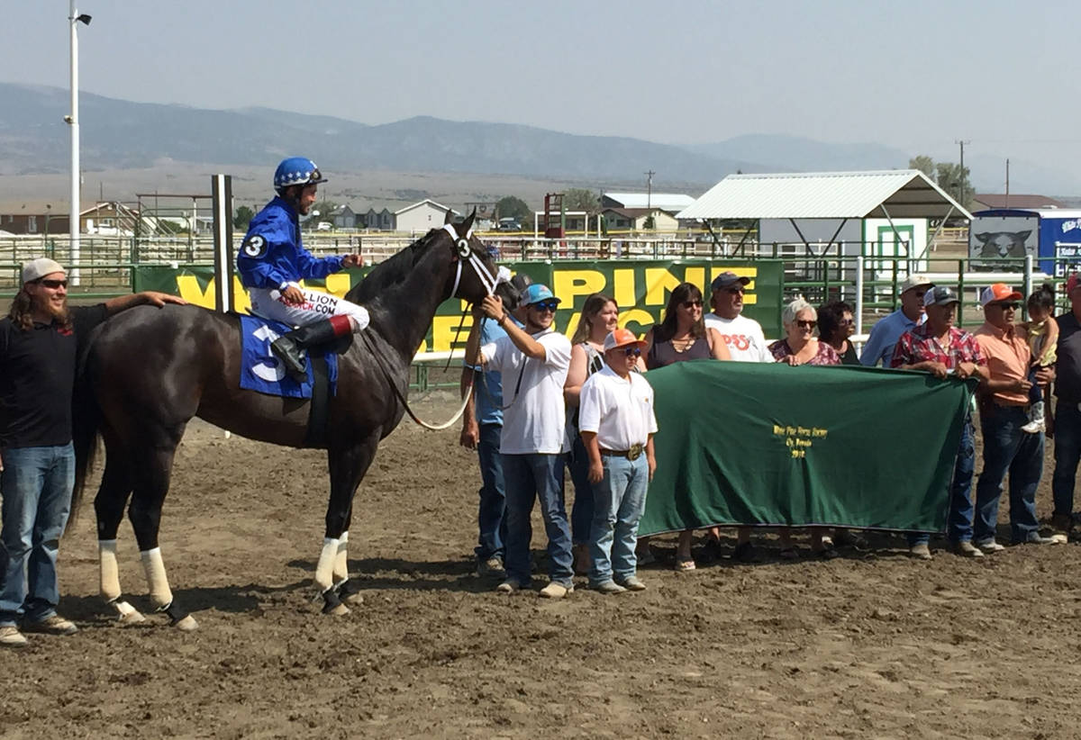 Winning connections bask in the joy of victory at the White Pine Races on Sunday, August 19, 20 ...