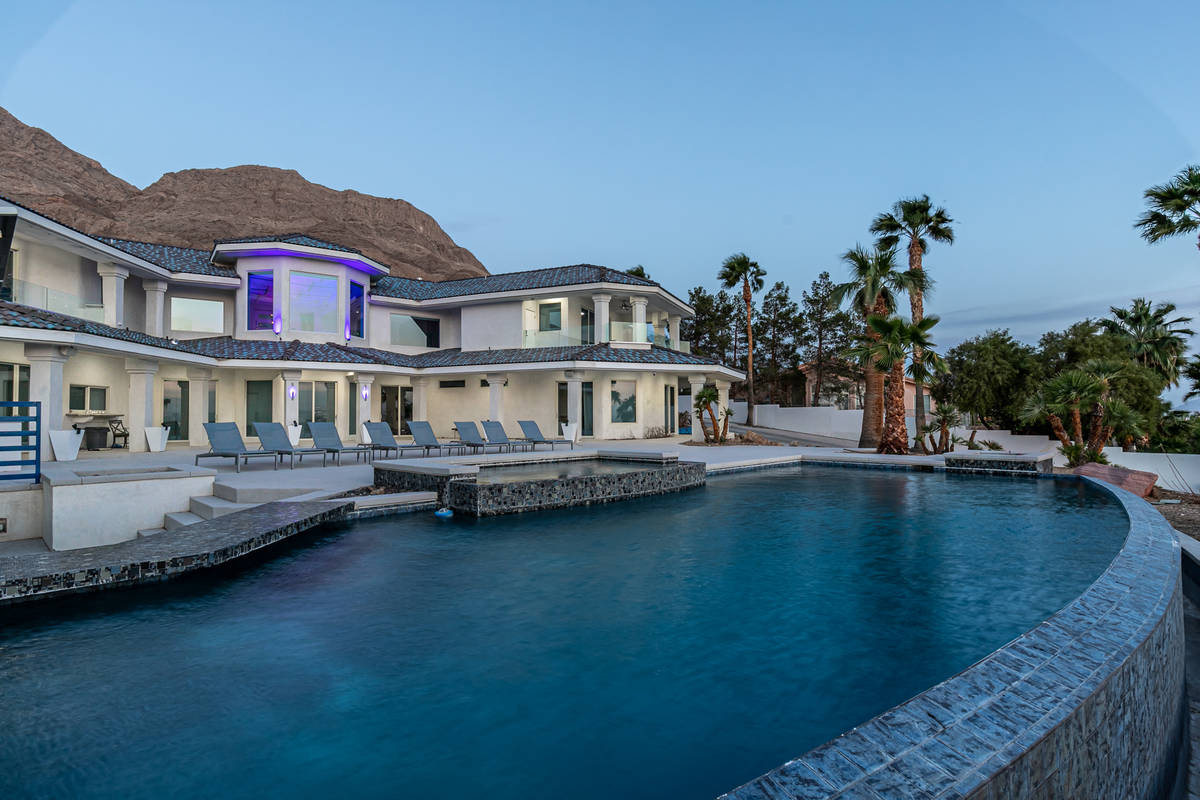The home at 460 Probst Way in Las Vegas, seen here, is listed for a dollar under $4 million. (C ...