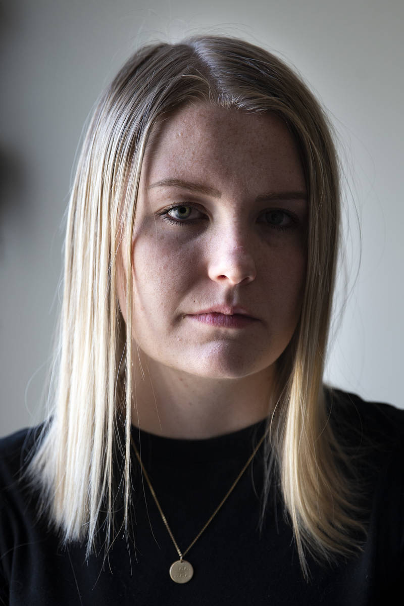 Kylee Tobler at her home on June 16, 2021, in Bunkerville, Nevada. The 21-year-old is at the c ...