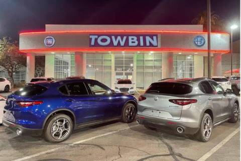 Towbin Alfa Romeo Fiat has moved its dealership to the Valley Automall. (Allen Grant/Las Vegas ...