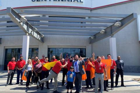 Centennial Toyota team members show their superhero support for the Candlelighters Childhood Ca ...