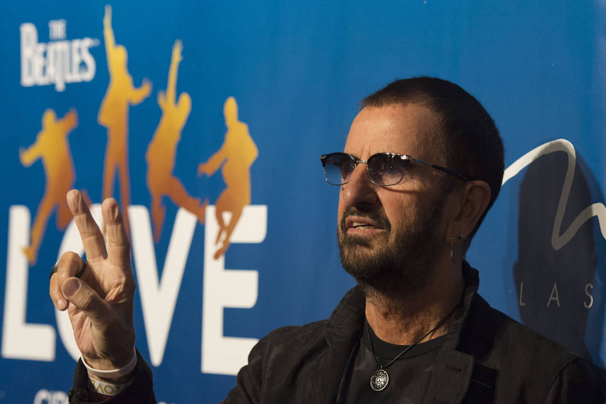 Drummer for the Beatles Ringo Starr, poses during a red carpet event to celebrate the 10th anni ...